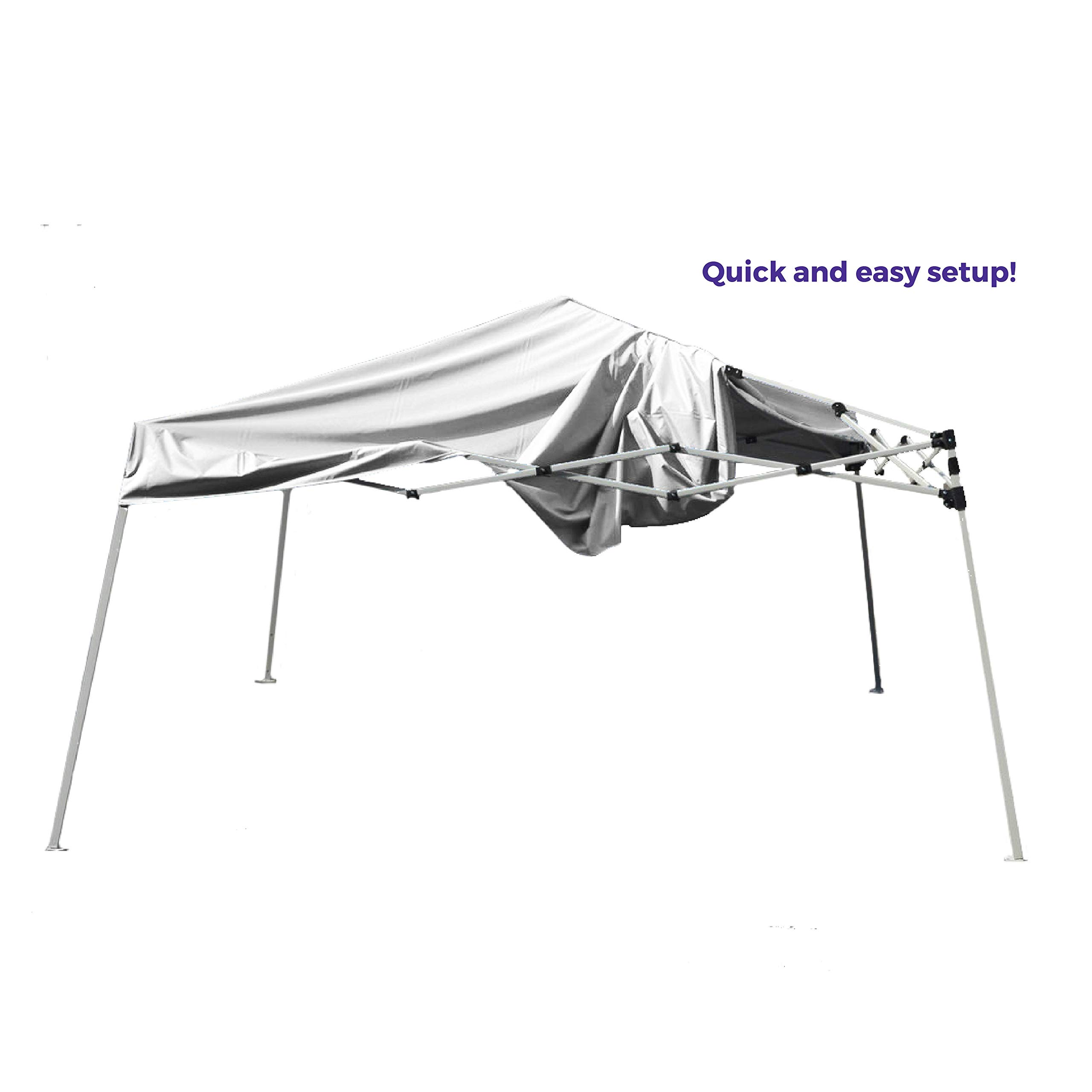 Impact Canopy 10' x 10' Pop-Up Canopy Tent, Instant Slant-Leg Portable Shade Tent with Carrying Bag, White by Impact Canopy (Image #3)
