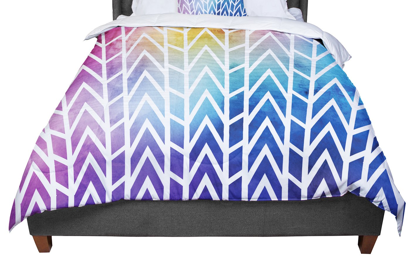 88 X 88 KESS InHouse Matt Eklund Shattering Rainbows Multicolor Abstract Queen Comforter
