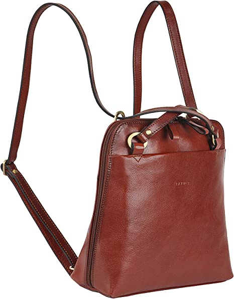 Banuce Fashion Italian Leather Convertible Backpack Purse