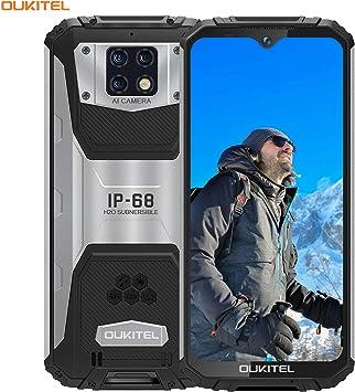 OUKITEL WP6 (4GB+128GB) IP68 Móvil Libre Resistente,6.3 FHD+ (Gorilla Glass),10000mAh Batería Telefonos Robusto,16MP+8MP Triple Cámara Rugged Móvil,Helio P70 Dual 4G Impermeable Smartphone (Negro): Amazon.es: Electrónica