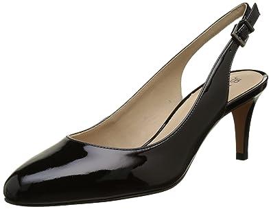a0cdb1d0173241 JB Martin Hashley, Escarpins Bride Arriere Femme Noir (Veau Vernis Noir) 40  EU