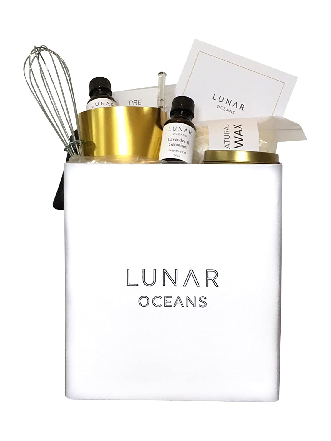 Scented Candle Making Kit by Lunar Oceans (Amber and Lavender & Geranium)