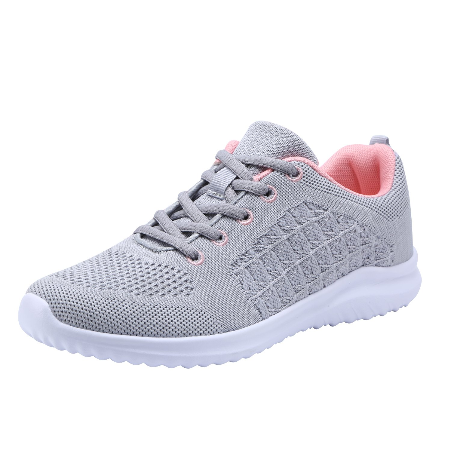YILAN Women's Fashion Sneakers Casual Sport Shoes B07F1MFSG2 8.5 M US|New Grey-5