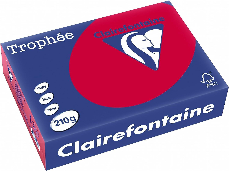 /Feuilles de papier//carton 250/feuilles A4 Clairefontaine Troph/ée/ couleur Grosella 21/x 29,7/cm