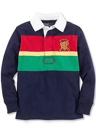 Ralph Lauren niños de Rugby Camisa Talla 4T Azul Marino Multi ...