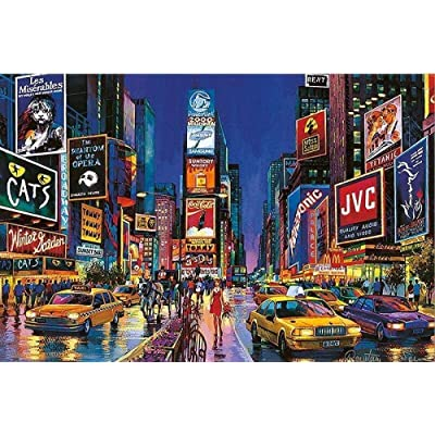 QGXDT Jigsaw Puzzle New York Times Square Jigsaw Puzzles The Wooden Puzzle 1000 Piece Puzzle Adult Child Cartoon Educational Toy Gift: Toys & Games
