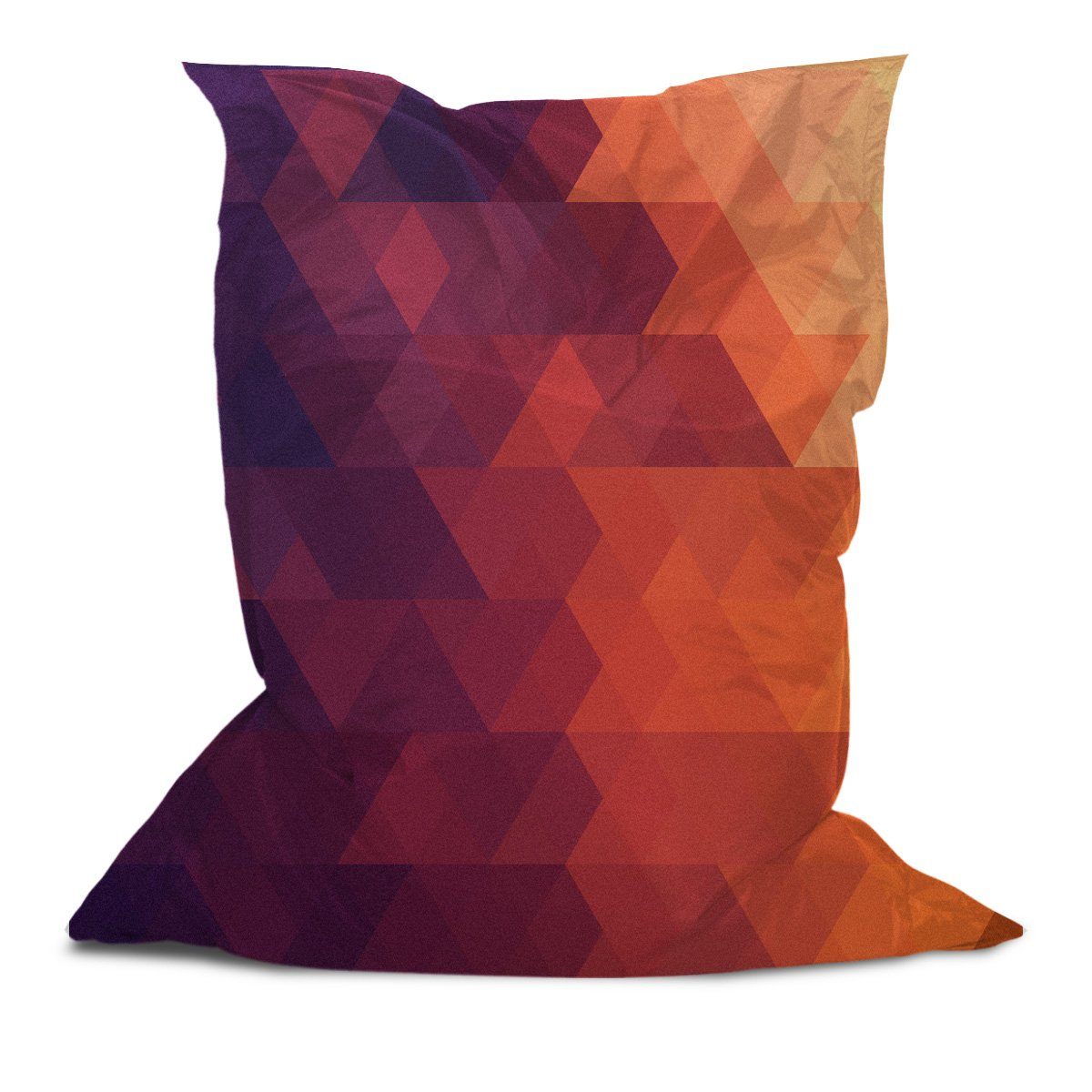 Branded Bean Bag with Printed Triangle Stripes (3) (3' x 4.4')