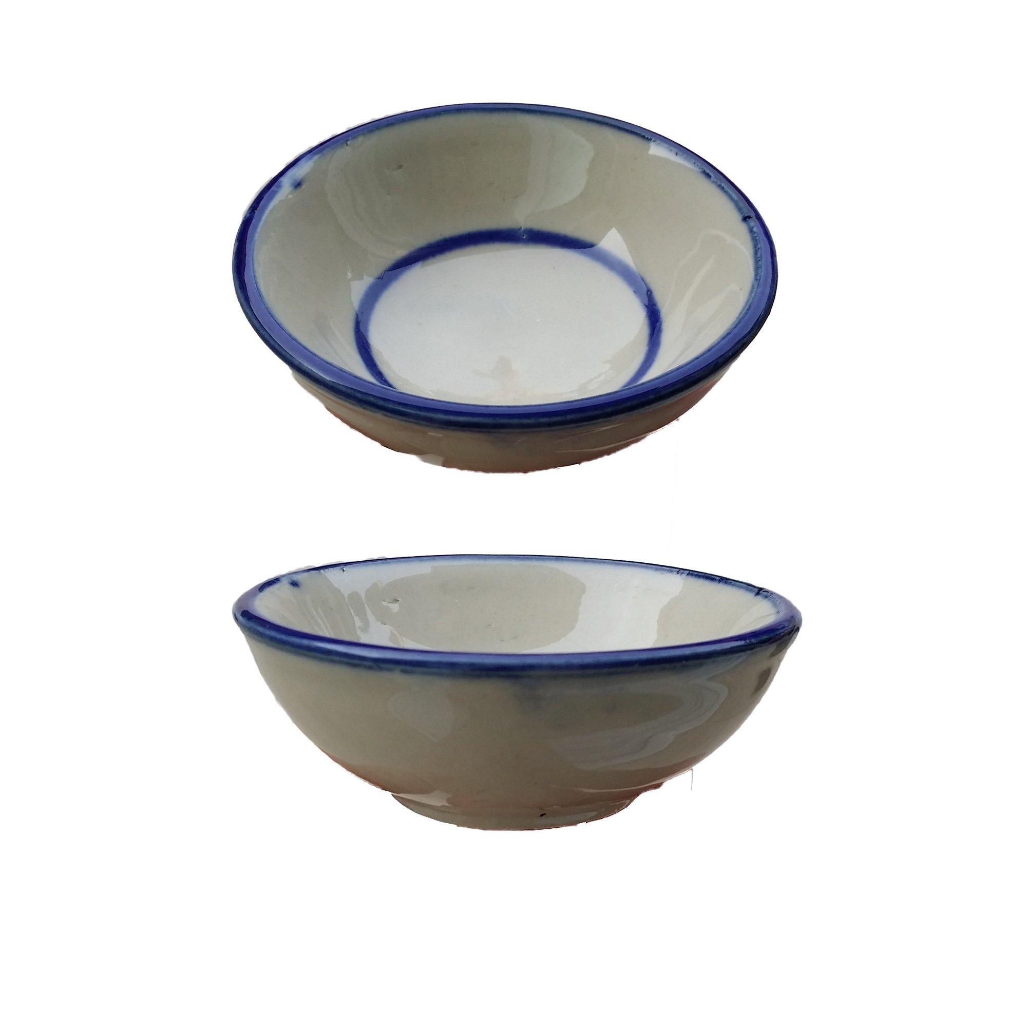 Thai Coconut Milk Custard Ceramic Khanom Thuai Talai Dessert Bowl X 10 Bowls by Thuai Talai