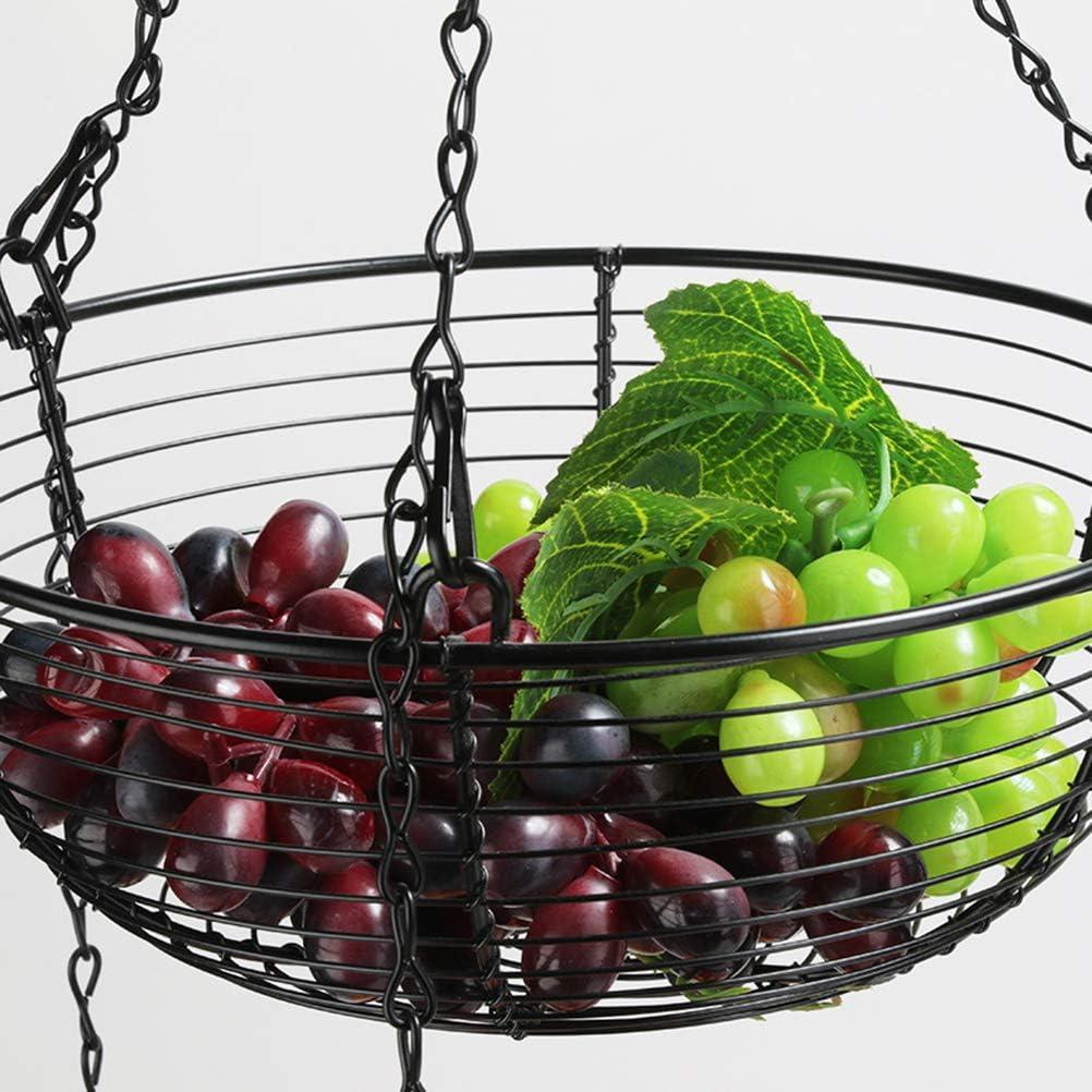 Eisenk/örbe Restaurant Obstkorb zum Aufh/ängen Eierk/örbe Gem/üse Obstkorb f/ür K/üche Aufbewahrung 3 Etagen