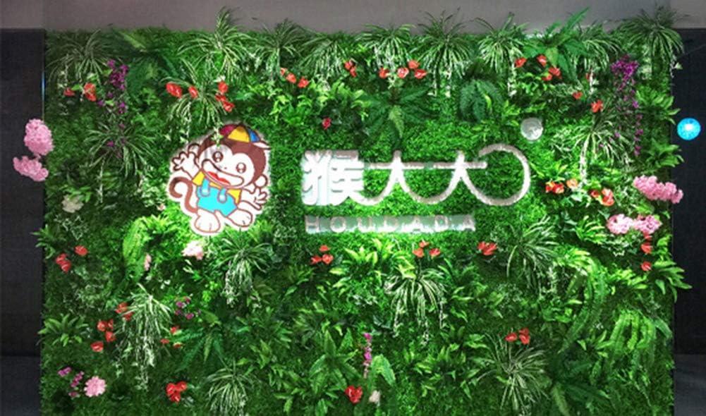 Ssowun Pared de césped Artificial Planta con Flores follaje Hermoso Decorativo Plantas de Pared (60 * 40cm): Amazon.es: Deportes y aire libre