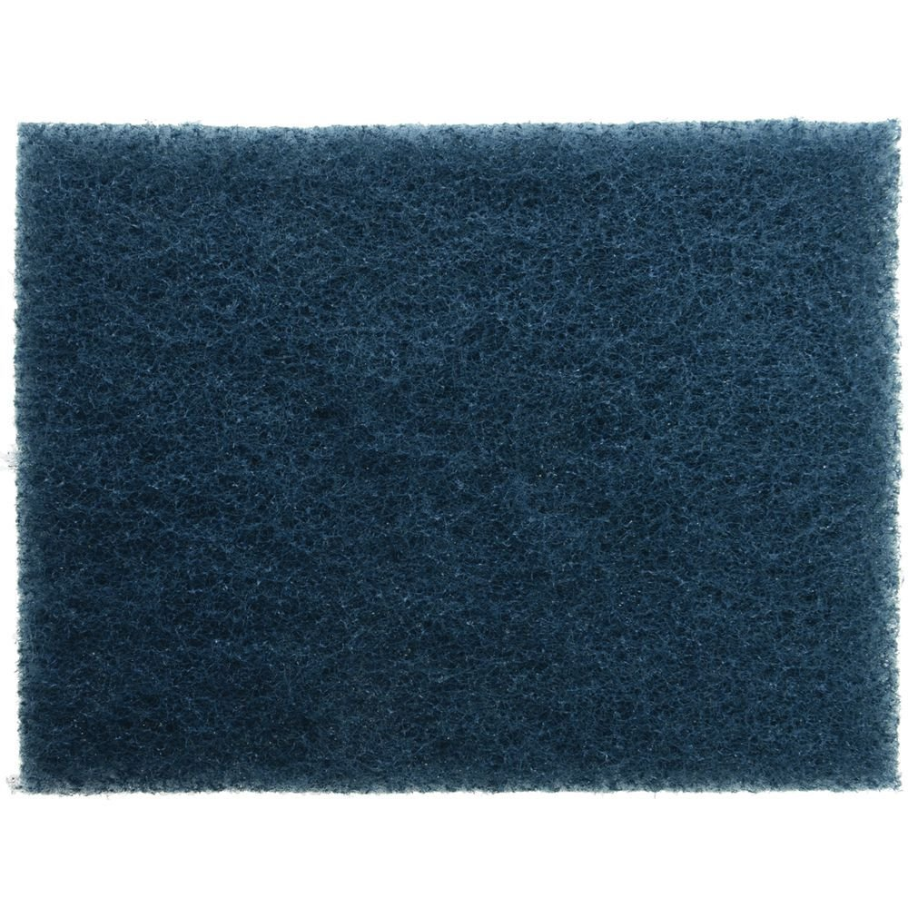 3M Scotch-Brite Blue Composite All-Purpose Soft Scouring Pads for Quick Clean Hot Griddle Cleaning System - 5''L x 4''W by 3M