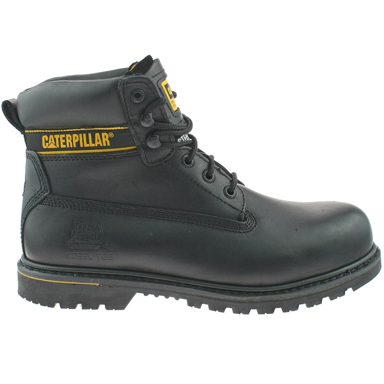 e6c428f9e43f Caterpillar FIT Herren Holton SB Wide FIT Leder Safety Steel Toe Cap 6 Work  Stiefel -schwarz-UK 15 (EU 49) - 4c4341
