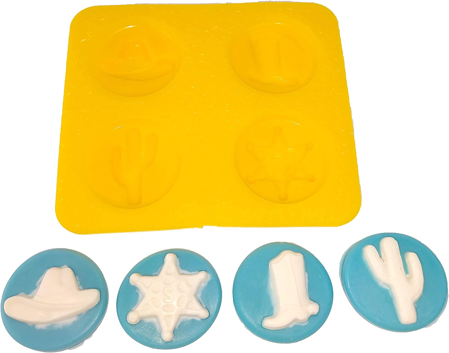 6 cavities  Boots-Shoe-Cowboy Shoes silicone mold Fondant-Resin-crafts-Clay-Candy-Jewelry-gumpaste