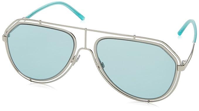 Amazon.com: Dolce & Gabbana dg2176 05/65 (Plata con Azul ...
