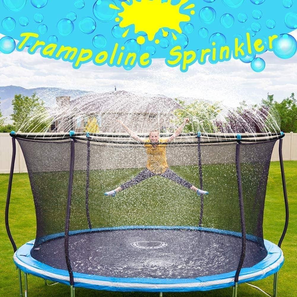 Water Play Sprinklers for Kids FreeNFond 49ft Trampoline Sprinkler Boys Girls Fun Summer Outdoor Water Game Trampoline Sprinkler Accessories