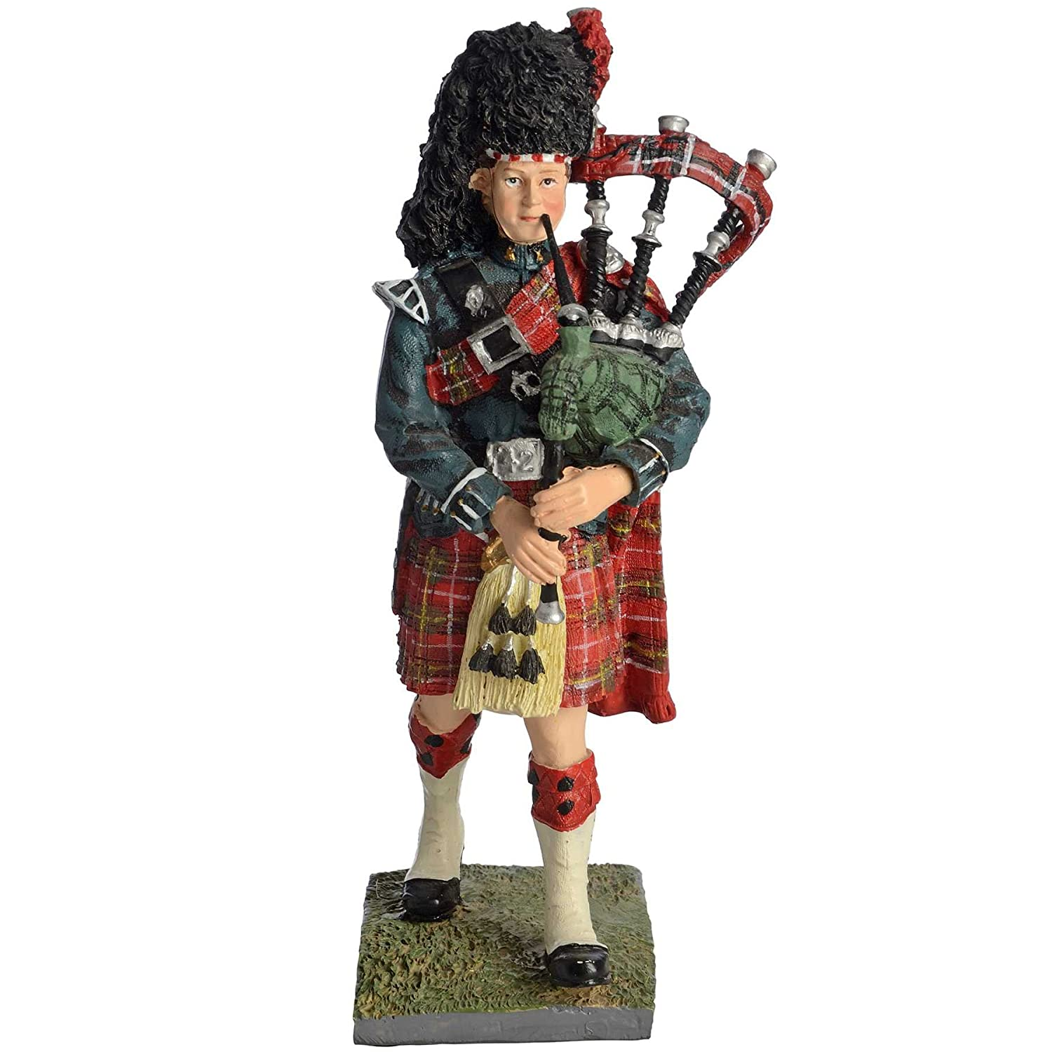 507 sculptures uk collectors resin scottish piper doll scottish