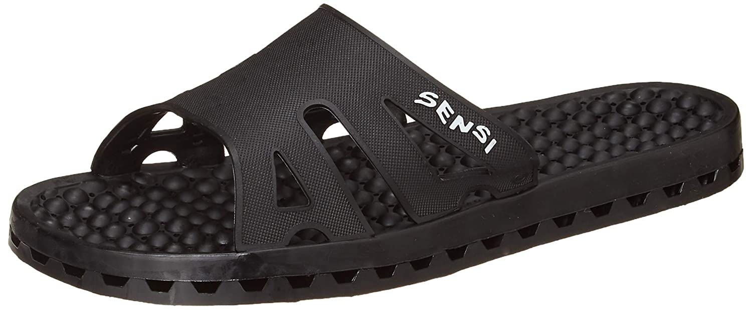 f27ba60bb7af Amazon.com  Sensi Shower Spa Pool Beach Sandal Waterproof Regatta Ice Black  (US size 8 - Sensi size 9 - Euro size 40 41)  Beauty