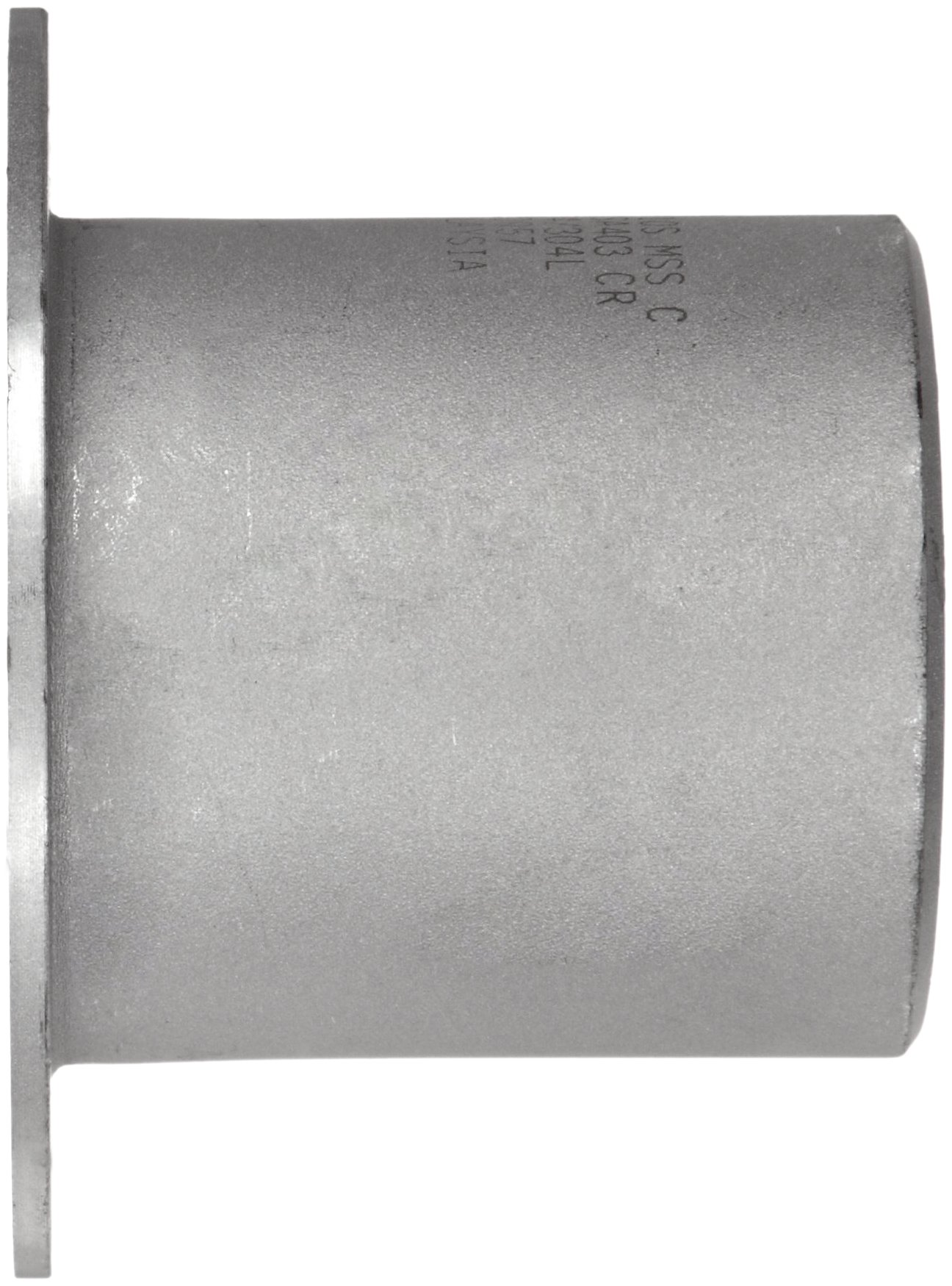 Stainless Steel 304/304L Pipe Fitting, Type C MSS Stub End, Butt-Weld, Schedule 10, 12'' Pipe Size by Merit Brass (Image #2)