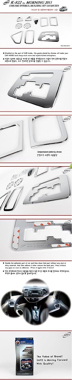 SAFE Chrome Interior Molding 10pcs Set Trim K822 For Kia Picanto 2011 2012 2013 Morning