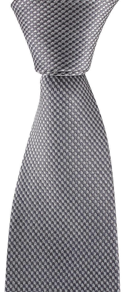 David Van Hagen Mens Houndstooth Tie Grey//White