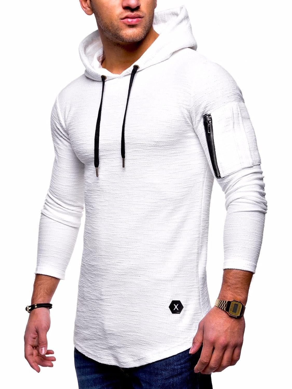 BEHYPE Men's Sweater Jumper Hoodie Sweatshirt Longsleeve Hooded Pullover MT-7422