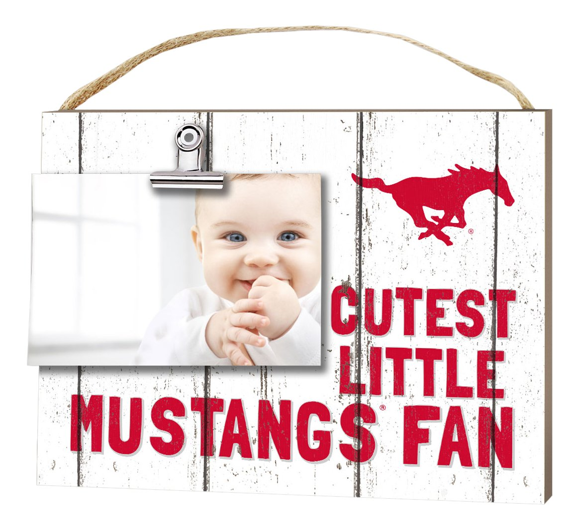 KH Sports Fan 10x8 Southern Methodist Mustangs Clip It Weathered Baby Logo Collage Photo Frame