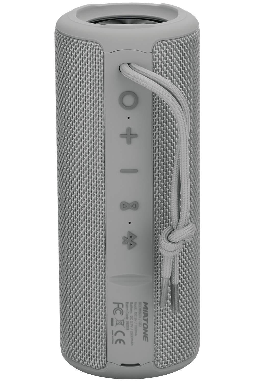 MIATONE Outdoor Waterproof Portable Bluetooth Wireless Speaker (Grey)