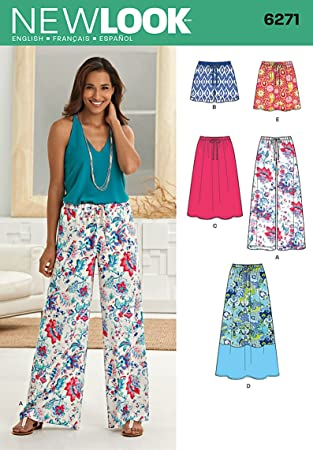 New Look Sewing Pattern 6271 - Skirts & Trousers Sizes: (10-12-14-16 ...