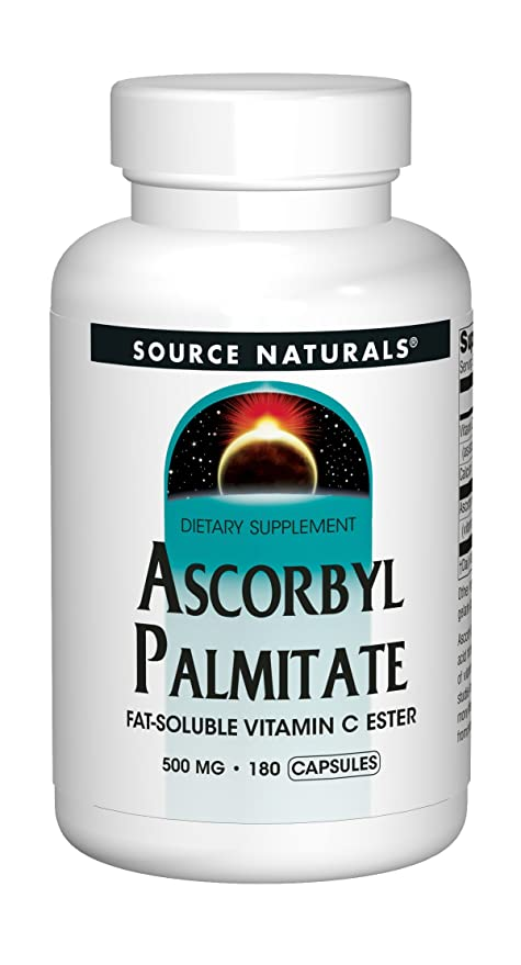 Source Naturals - éster de vitamina C liposoluble palmitato de ascorbilo 500 mg. - 180