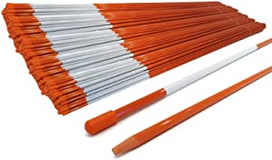 The ROP Shop Pack of 5000 Snow Poles 48 inches Long 5/16 inch Fiberglass with Reflective Tape