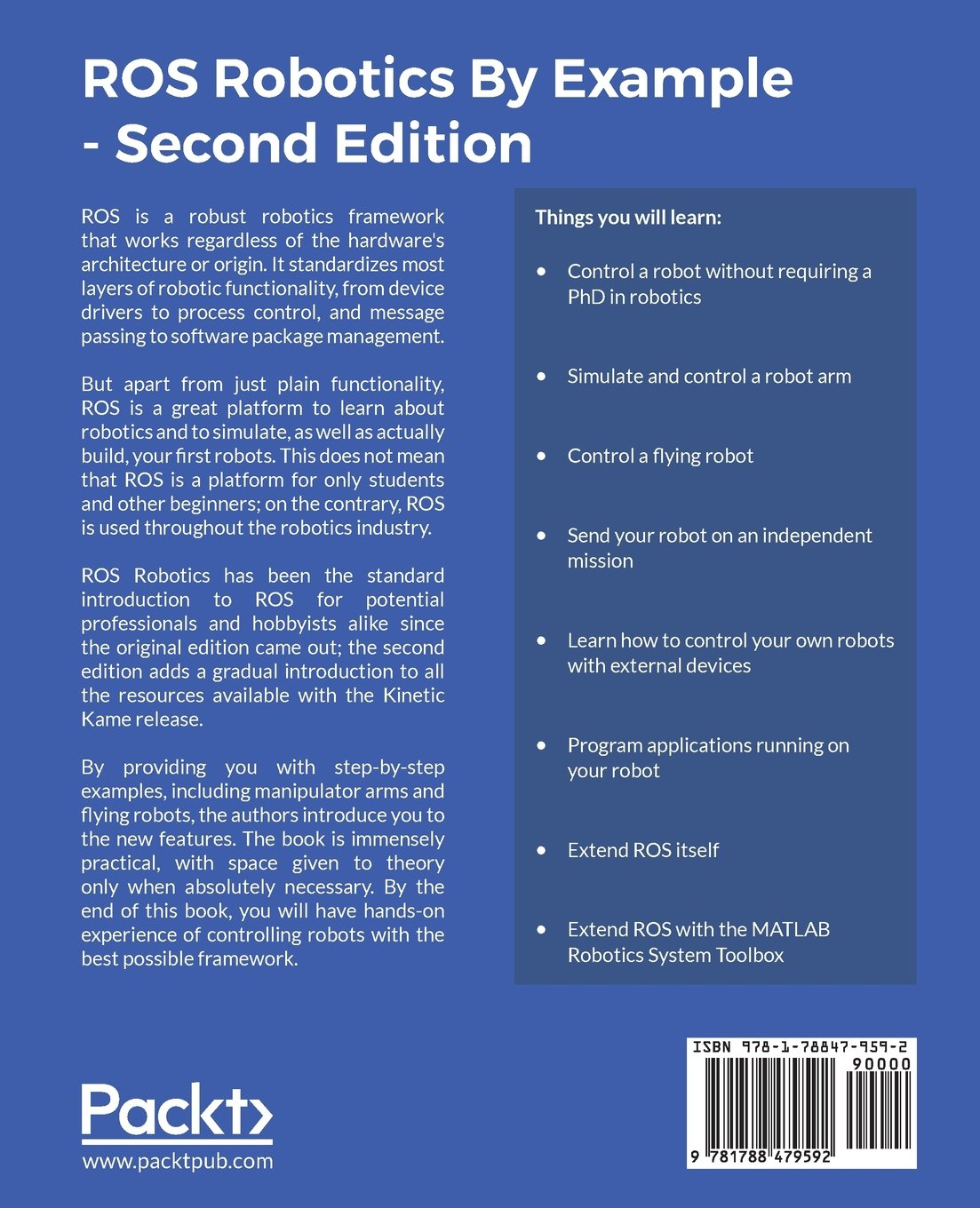ROS Robotics By Example - Second Edition: Learning to control ...