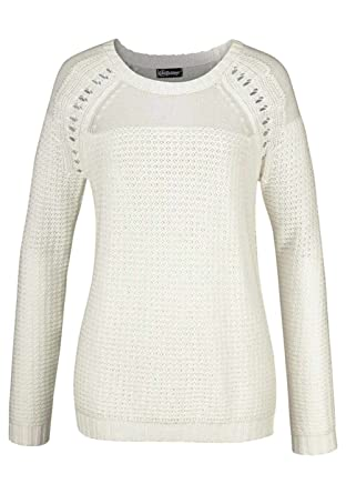 54ed60a06e8c43 Pullover, wollweiß von Chillytime Grösse 40/42: Amazon.de: Bekleidung