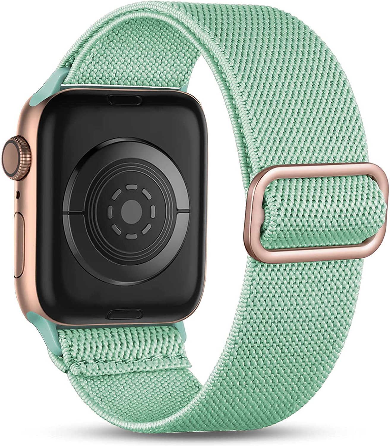 Witzon Compatible with Apple Watch Band 44mm 42mm 40mm 38mm for Women Men, Elastic Solo Loop Soft Breathable Braided Nylon Stretchy Bands for iWatch / Apple Watch SE Series 6 5 4 3 2 1