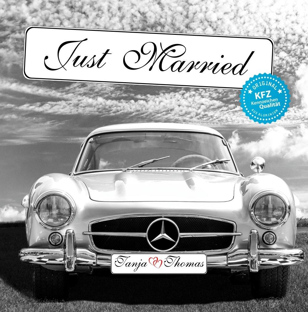 Original KFZ-Kennzeichen Hochzeit Autoschilder Hochzeitsschilder ...