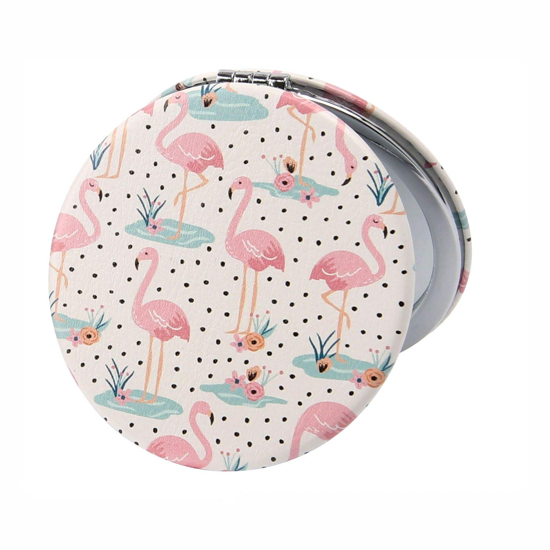Wild Thoughts Flamingo Compact Mirror Handbag Beauty Make Up
