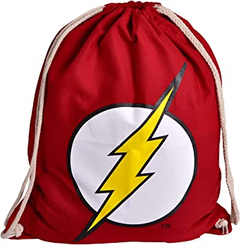 Elbenwald Flash Sportbag Logo 46x37cm DC Comics Algodón Rojo ...