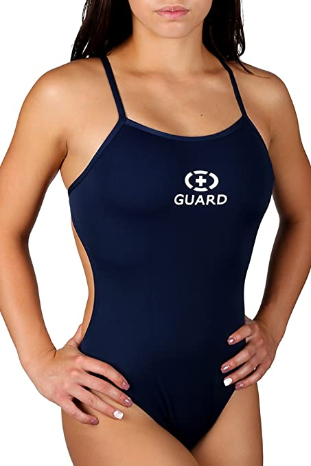 55691f2a10 Buy Adoretex Lifeguard Thin Strap Open Back Swimsuits (FGP05) - Navy ...