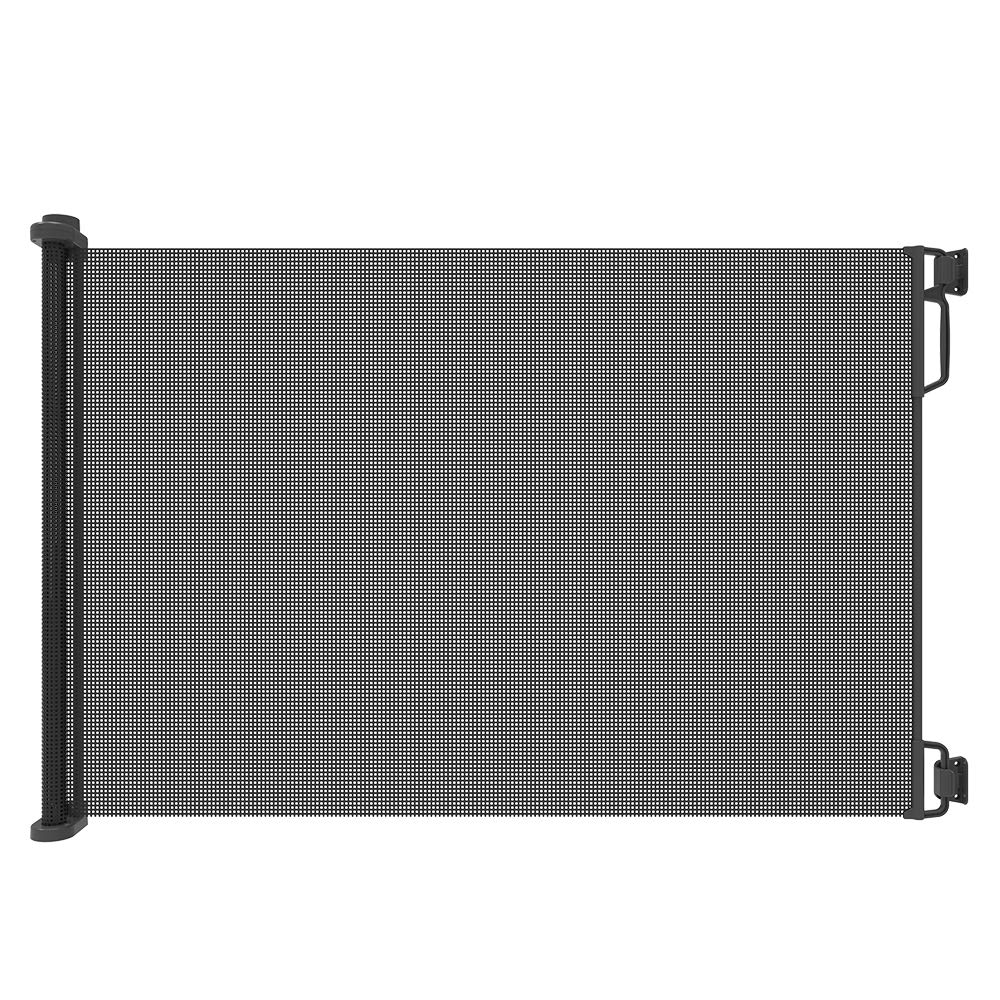 """Perma Child Safety Outdoor Retractable Baby Gate, Extra Wide up to 71"""", Black by Perma Child Safety (Image #1)"""