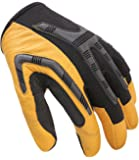 Leather Work Gloves Heavy-Duty, Water-Resistant Palm, Comfortable Industrial & Mechanic Use
