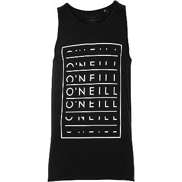 O'Neill bloque Type Tanktop streetwear Camiseta, hombre, Block type tanktop, Powder White, small