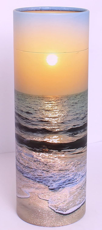 Urna para esparcir cenizas, tubo; urna biodegradable y respetuosa con el medio ambiente, Sunset Small UrnsWithLove