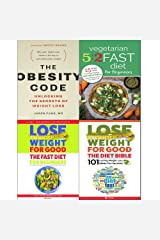 Obesity code, vegetarian 5 2 fast diet, lose weight for good fast diet and diet bible 4 books collection set Paperback