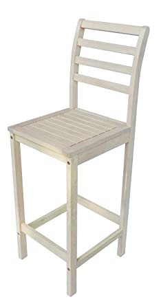 Zen Garden Wood Bar Chair, Size   16u0026quot; X 16u0026quot; X 47.5u0026quot;