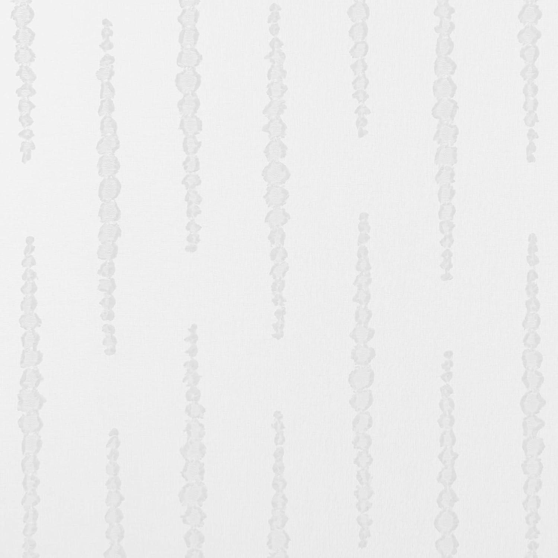 Deconovo Lot de 2 Rideaux Jacquard Voilage Cuisine Salle /à Manger Rideau /à Oeillet Translucide Salon Chambre Bleu 140x175cm