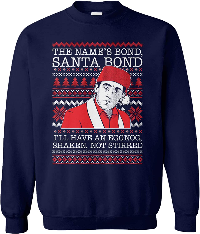 The Name's Bond, Santa Bond - Michael Scott Unisex Crewneck Sweatshirt