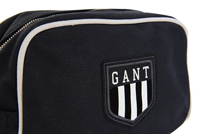 8da6083d299 Gant Toiletry Bag Toiletry Wash Bag Black 100% Cotton: Amazon.co.uk: Luggage