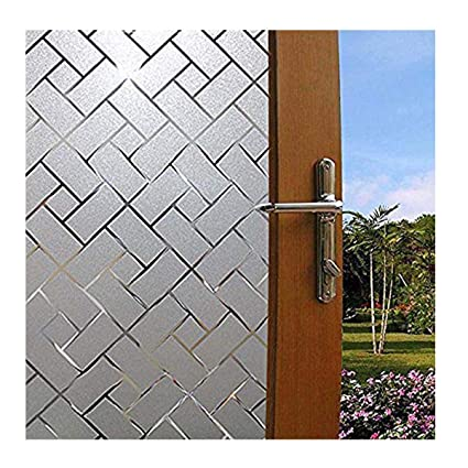 frosted glass window exterior becry plastic no glue frosted privacy window film home office bathroom static cling non adhesive amazoncom