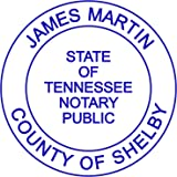 Round Notary Stamp For State Of Tennessee Self Inking