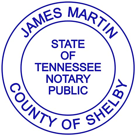 Amazon Round Notary Stamp For State Of Tennessee Self Inking