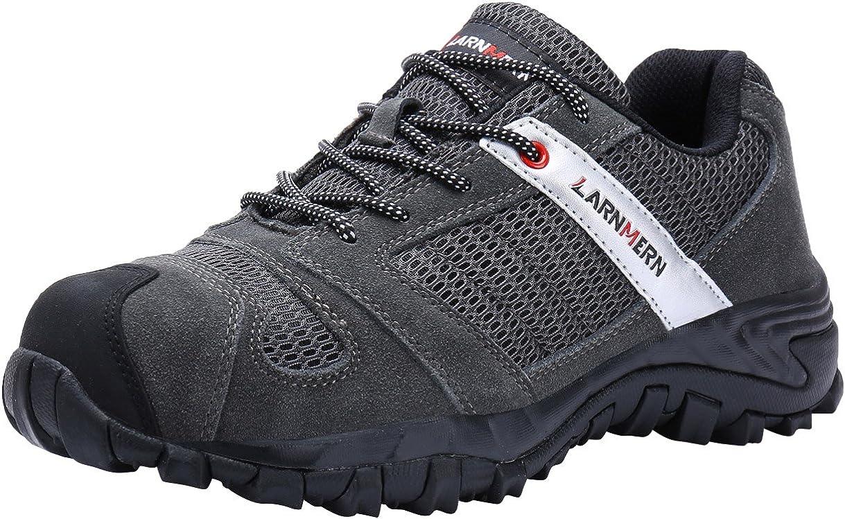 LARNMERN Chaussures de Sécurité pour Homme,LM-18 Embout en Acier Antidérapante Chaussures de Travail Respirant Confortable